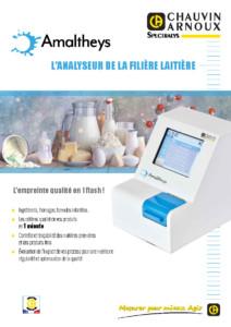 Analyseur filière laitière Amaltheys